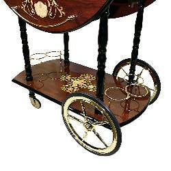 Sorrento Italian-style Drop Leaf Serving Cart