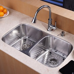 Kraus 32-inch Undermount Stainless Steel 16-gauge Kitchen Sink
