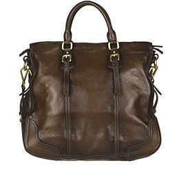 Prada 'Cervo Antik' Brown Leather Tote Bag
