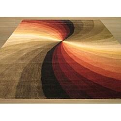 Hand-tufted Swirl Multi Wool Rug (10' x 14')