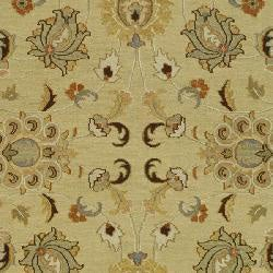 Indo Sumak Handmade Heirloom Ivory/ Brown Rug (10' x 14')