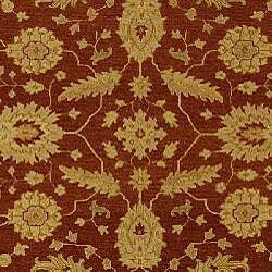 Indo Handmade Sumak Flatweave Foli Red/ Beige Wool Rug (6' x 9')