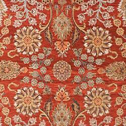 Heirloom Hand-knotted Farahan Red/ Gold Wool Rug (6' x 9')