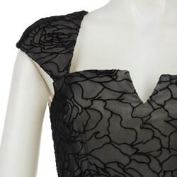 David Meister Women's Velvet Dress
