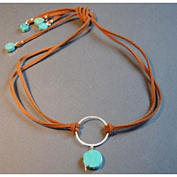 Sterling Silver 'Breakfast on Melrose' Turquoise Necklace (USA)