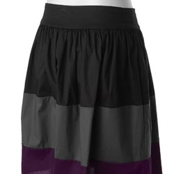 Adi Designs Junior's Colorblock Tiered Skirt