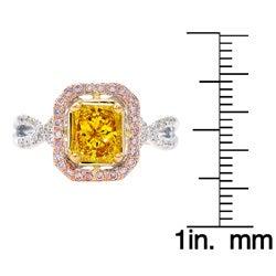 14k Gold 1 1/4ct TDW Yellow Diamond Ring (G-H, SI1-SI2) (Size 7)