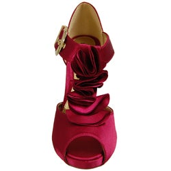 Liliana by Adi Women's Narrow Width Ruffle Peep-toe Platforms