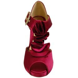 Liliana by Adi Women's Narrow Width Ruffle Peep-toe Platforms