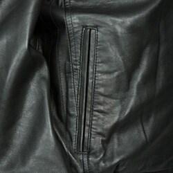 IZOD Men's Big & Tall New Zealand Lambskin Stand Collar Jacket
