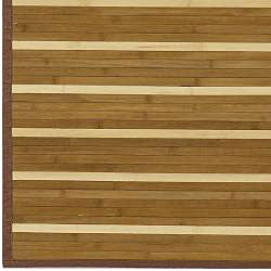 Hand-woven Brown Natural Fiber Bamboo Rug (5' x 8')