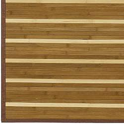 Hand-woven Brown Natural Fiber Bamboo Rug (5' x 8')