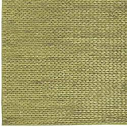 Hand-woven Green Natural Fiber Jute Braided Texture Priam Rug (5' x 8')