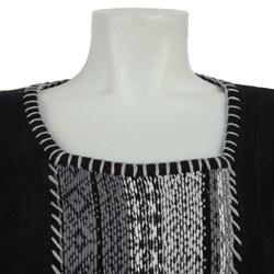 RXB Women's Fair Isle Black Sweater