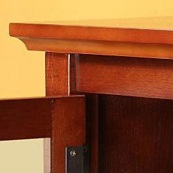 Brown Solid Wood 52-inch TV Stand