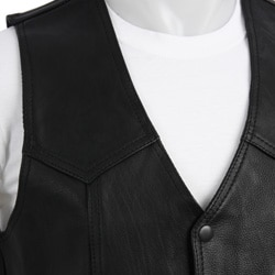 Biker's Dream Apparel Men's Leather Duster Vest