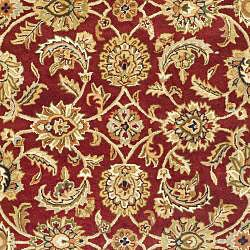 Safavieh Handmade Classic Red/ Gold Wool Rug (6' x 9')