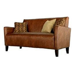 angelo:HOME Sutton Saddle Brown Renu Leather Sofa