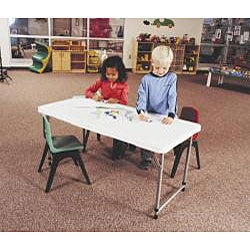 Lifetime 4-foot Adjustable Height Fold-in-half Table