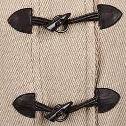 Jones New York Women's Plus Size Grooved Wool Toggle Coat