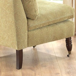 Bordeaux Celery Green Paisley Chair