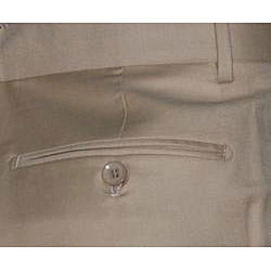 Mantoni Men's Camel Single-pleat Wool Pants