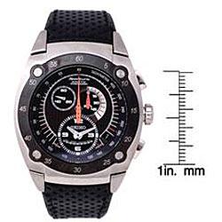 Seiko Mens Sportura Kinetic Chronograph Black Leather Strap Watch