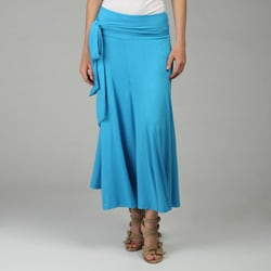 Lapis Women's Convertible Knit Tie Waist Skirt