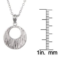 Kabella Sterling Silver Textured Medallion Necklace