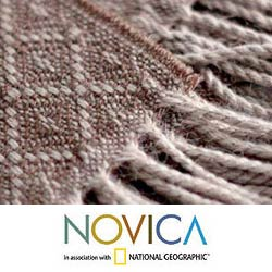 Wool Blend 'Andean Honeycomb' Throw Blanket (Peru)