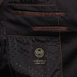 Caravelli Italy Men's Black 2-Button Tuxedo