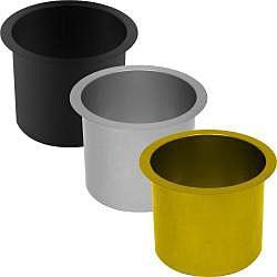 Jumbo Aluminum Poker Table Cup Holders (Set of 10)