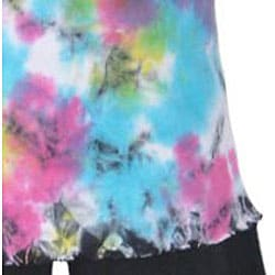 AnnLoren Boutique Girl's Peace Tie-dye Tank and Capris