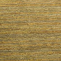 Hand-knotted All-Natural Horizons Gold Hemp Rug (6' Round)