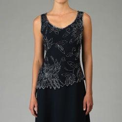 J Kara Women's Beaded Dress with Bolero Jacket
