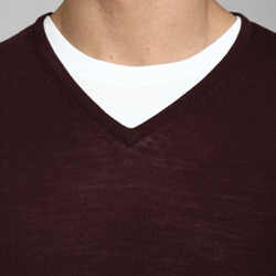 Belford Men's Merino Wool V-neck Sweater