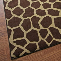 nuLOOM Infiniti Collection Giraffe Animal Print Brown Rug (4'5 x 6'9)
