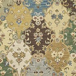 Handmade Sumak Taupe Wool Rug (9' x 12')