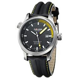 Golana Swiss Men's 'Aqua Pro 100' Black and Yellow Watch
