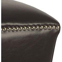 Safavieh Mason Brown Bi-cast Leather Ottoman