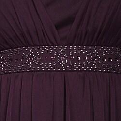 Jessica Howard 1 piece Mesh Dress with Beaded Trim