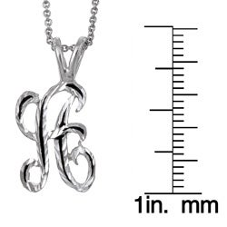 Best in Show Sterling Silver and Enamel Diamond-cut Initial Necklace