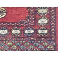 Pakistani Hand-knotted Bokhara Red/ Ivory Wool Runner (2'8 x 8')