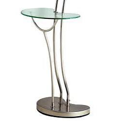 Modern Nickel Torchiere Floor Lamp Table 12740415