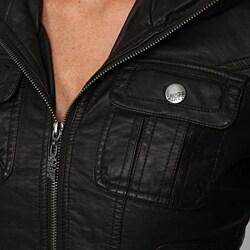 Miss Sixty Women's Faux Fur-lined Hooded Jacket