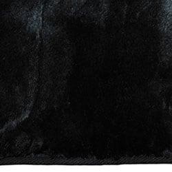 Black Faux Fur Rug (7' x 10')