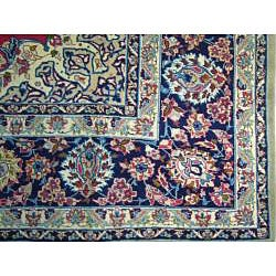 Persian Hand-knotted Isfahan Red Wool Rug (10'2 x 13'7)