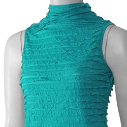 Happie Brand Women's Sleeveless Mock Neck Top