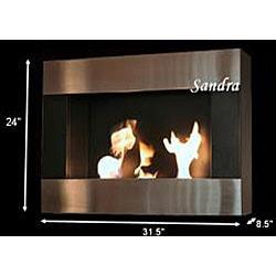 Wall Mounted Sandra Bio Ethanol Fireplace
