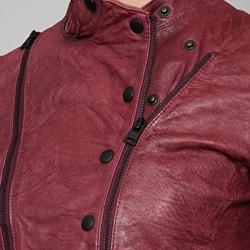 Levis Women's Wine Leather Motorcycle Jacket